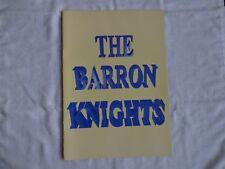 More details for   souvenir programme  the baron knights autographed