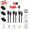 6Ft/2M Type C USB C OEM Fast Charger Data Sync Cable Cord Samsung Android HTC LG