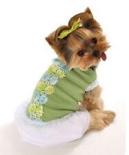 "Hip Doggie Spring Bouquet Tutu Dress XSmall Mint Green Neck 8.5"" Chest 9 - 11"""