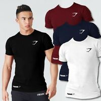 Gym shark Stringer T Shirt Top Men Gymshark Bodybuilding Slim Cut Fitness Male