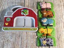 Leap Frog Fridge Phonics Magnetic Musical Farm Barn 5 Animals Compete Set