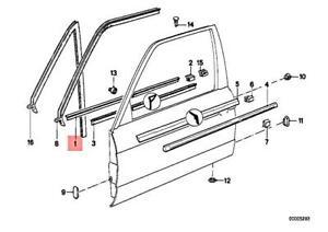 Genuine BMW M3 E30 316 316i Door Weather Strip Inner Right Black 51211953024