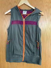 Womans Zumba Grey Orange Purple Hoodie Vest Size Small