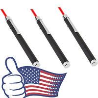 3pc Ultra Powerful Red Laser Pointer Pen Beam Light 5mW 650nm Presentation Lamp