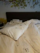 Wendebettwäsche Bettwäsche Flanell/Biber floral 155x220 Übergröße creme beige 3t