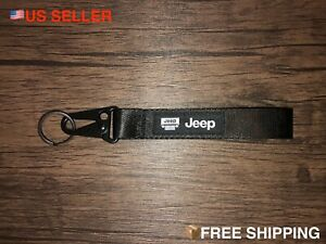 JEEP BLACK Racing Keychain Wrist Lanyard with Metal Keyring - FREE SHIPPING!