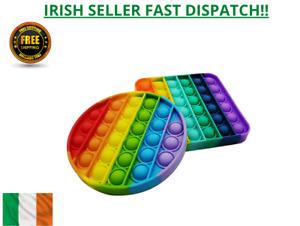 Pop It Fidget Rainbow Bubble kids Toy Special Needs Stress Relief TikTok Game