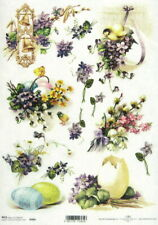 A/4 Rice Paper for Decoupage, Scrapbooking Sheet -  Easter flowers