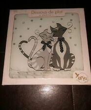 Efya Deco Dessous De plat cat couple