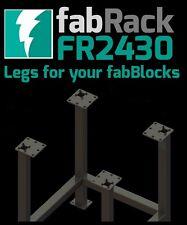 """CertiFlat FR2430 24""""X30"""" FabRack CNC Laser Tube Leg Kit for FabBlocks Heavy-Duty"""