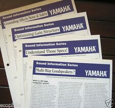 Original Yamaha Pro Audio Sound Information Series Tech Sheets, from 1992