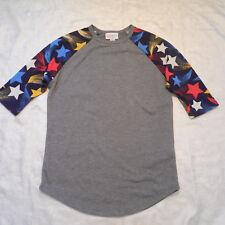 Lularoe Girls Top 8 Kids Americana 4th of July Stars Patriotic Randy T Shirt Tee