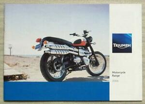 TRIUMPH MOTORCYCLES Sales Brochure 2006 #T3860041 Daytona 955i ROCKET III Tiger+