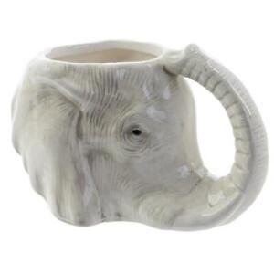 Tasse Elefanten Kopf Kaffeetasse Becher Teetasse Elefantenkopf