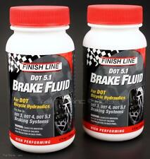 2-Pack Finish Line 5.1 DOT Bike Hydraulic Disc Brake Fluid 4oz for Dot 3/4/5.1