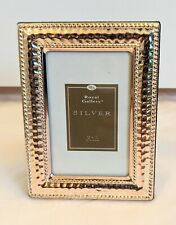 """Royal Gallery Silver Plated 2x3"""" Mini Picture Frame Tarnish Resistant"""