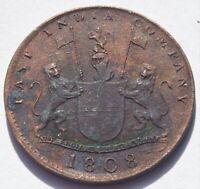 1808 East India Co. 10 Cash Admiral Gardner Shipwreck Coin