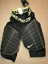 NIKE PRO HYPERSTRONG ELITE COMPRESSION SHORTS BLK,VOLT 618976-010 MENS SMALL S