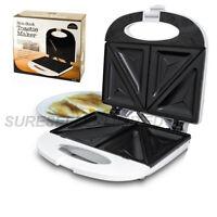 NON STICK TOASTIE MAKER SANDWICH MACHINE PANINI PRESS HEALTH GRILL GRIDDLE WHITE