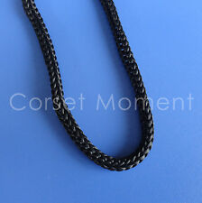 Lacing Cord Round Black 5mm Lace String for Shoe Corset Craft Supplies 5 Meters