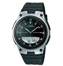 Casio AW80-1AV Men's Resin Band Black Dial Analog Digital Telememo 30 Watch