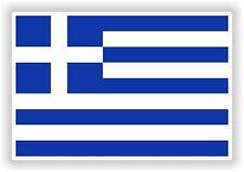 "Greece Greek flag Sticker Hellenic Hellas Bumper Vinyl Decal  2.7"" x 4"""