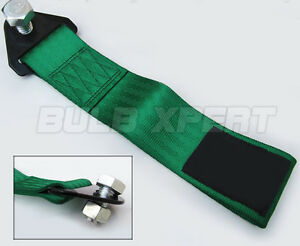 FOR ACURA INTEGRA RSX DC 5 TYPE-S JDM GS GSR RACING TRACK GREEN TOW STRAP ROPE