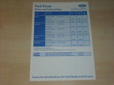 40195) Ford Fiesta Preise & Extras Prospekt 08/1990