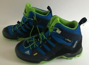 NEW OTHER Adidas Terrex AX2R Mid Climaproof Hiking Boot. Blue. US Size Kids 13