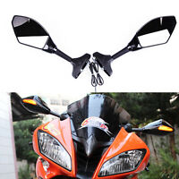MOTORCYCLE LED TURN SIGNALS MIRRORS REARVIEW For Yamaha FZ6R 2009 2010 2011 2012