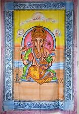 BEAU DIEU HINDOU INDIEN Lord Ganesh brossé effet simple Jeté de lit 140 x 210cm