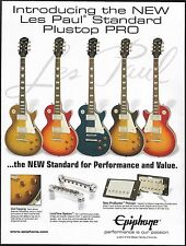 The 2012 Gibson Epiphone Les Paul Standard Plustop Pro Guitar Series 8 x 11 ad