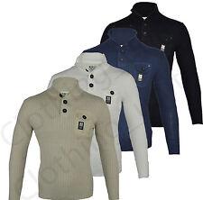 Crosshatch Cotton Funnel Neck Jumpers & Cardigans for Men