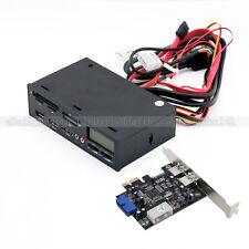 "New 5.25"" USB 3.0 MultiMedia Front Panel USB Hub eSATA Card Reader PCI-E Card"