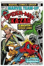 MARVEL TEAM-UP #19 (FN-) SPIDER-MAN! KA-ZAR! 1st STEGRON! 1974 Gil Kane Art!