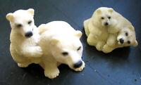 2er SET schöne Dekofiguren Setzkasten Figuren Eisbären Polyresin 265