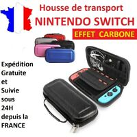 Housse de protection / sac de transport EVA CARBONE pour nintendo switch / étui