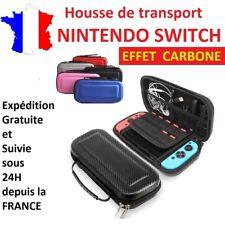 Housse de protection / sac de transport EVA CARBONE pour nintendo switch / étui