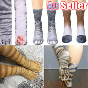 Unisex Kids 3D Printed Tube Men Women Cotton Funny Animal Paw Socks Hoof