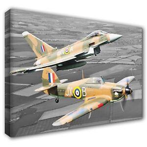 Eurofighter Typhoon BATTLE OF BRITAIN Hurricane Canvas Print ~ 5 Sizes ~ BPT02