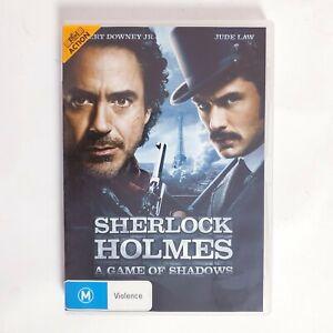 Sherlock Holmes Game of Shadows Movie DVD Region 4 AUS - Crime Investigation