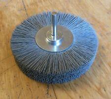 Super Fein-Schleifbürste 100 x15 Schaft 6mm SiC Korn 600 grau Schleifnylon 4500U