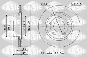BRAKE DISC FRONT FOR RENAULT LAGUNA II (2000-2013) (PAIR)
