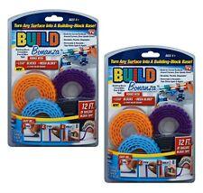 (2pk) AS SEEN ON TV Building Block Peel & Stick Build Bonanza Lego & Mega Blocks
