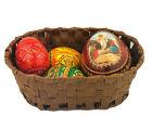 Easter Basket Ukrainian Wooden Eggs Pysanky Resurrection of Christ Icon Egg Gift