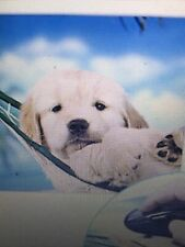 x2New/Sealed Fellowes Recycled Mouse Pads Nonskid/ Puppy in Hammock (Fel5913901)