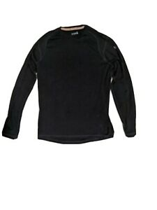 SMARTWOOL Mens Black Merino 250 Base Layer Crew Neck Long Sleeve Shirt LARGE NWT