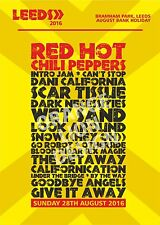 Canvas - Red Hot Chili Peppers - Leeds Festival Sunday 28th August Set List