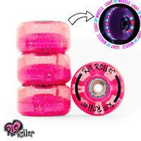 Rio Roller, Light Up Quad Roller Disco Skate Wheels, Pink Glitter