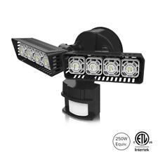 SANSI LED Security Motion Sensor Outdoor Light, 30W (250W Equiv.) Black